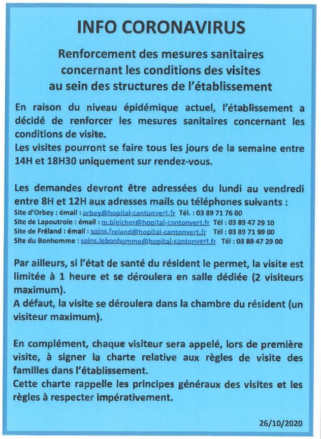 infos coronavirus 28 10